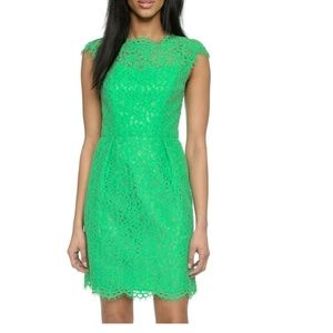 Shoshanna Olivia Lace Cocktail Dress in Apple